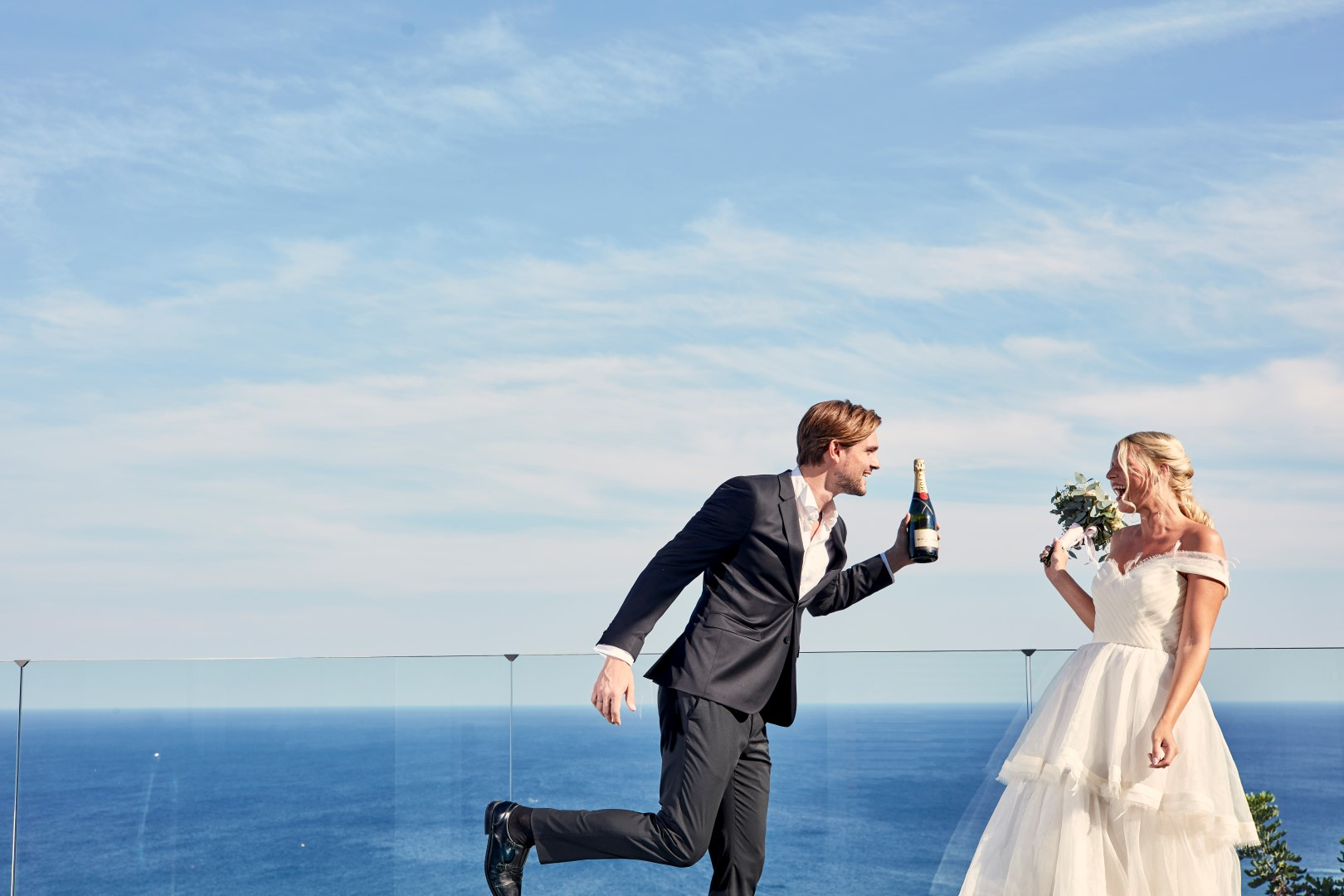 A gorgeous wedding in Rhodes overlooking the endless blue of the Aegean Sea!