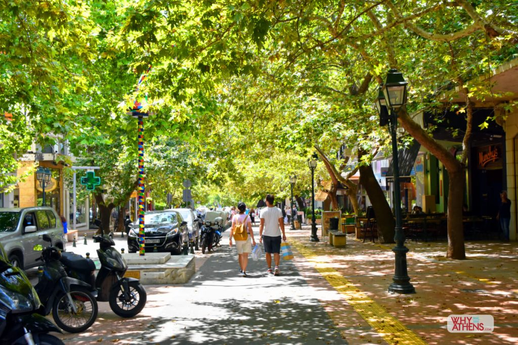 Exploring Athens: Taking a walk at the leafy neighborhood of Kifissia!