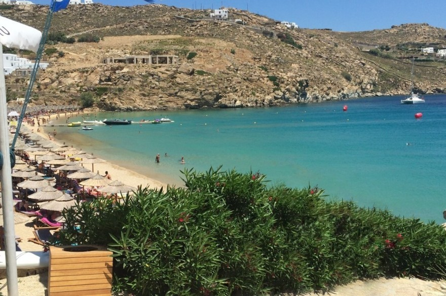 Mykonos Must-Visit Gay Beaches; Elia Beach and the Jackie O' at Super paradise!