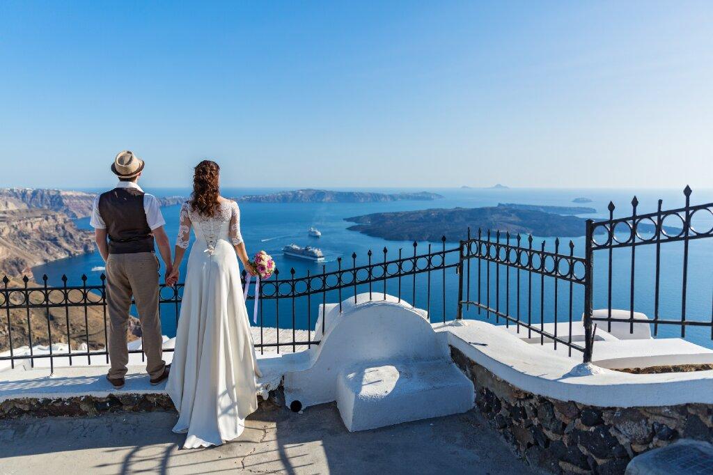 A Santorini Wedding on the Best Cliffside Luxury Boutique Hotel!