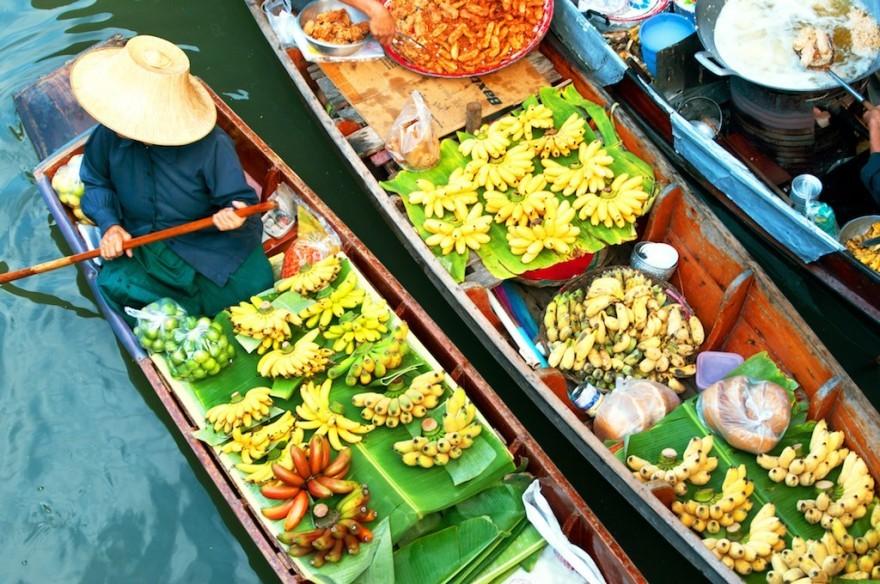 The famous Floating Markets of Bangkok