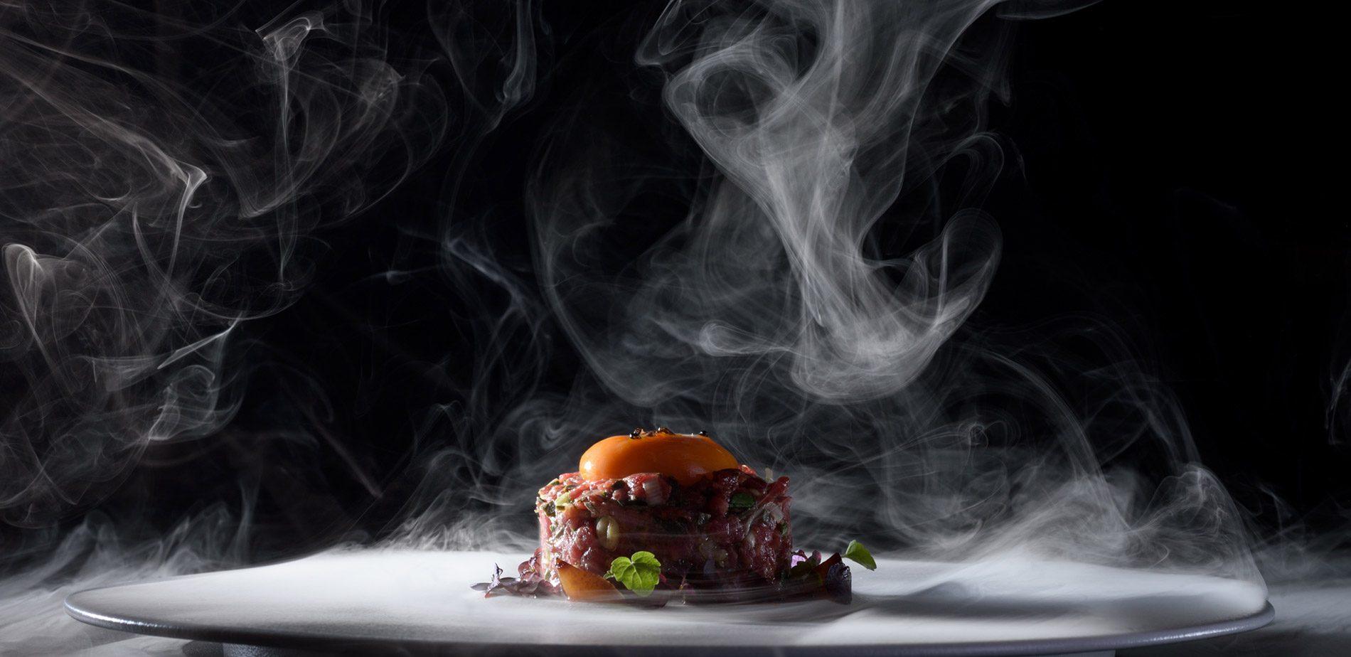 A gourmet hotel restaurant in Santorini redefines 'gastronomy'