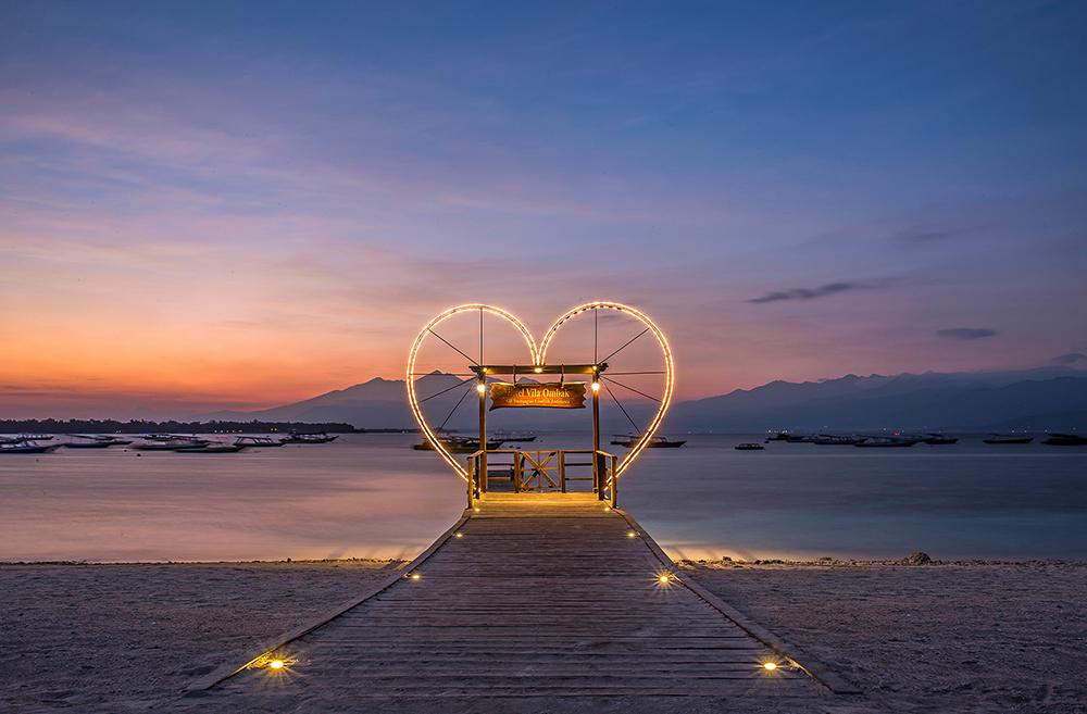 A Romantic Honeymoon Experience in the exotic Gili Islands near Lombok!