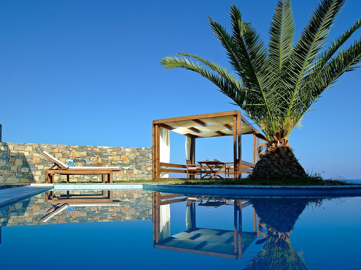 An oasis of elegance awaits you at the stunning village of Agios Nikolaos in Crete!
