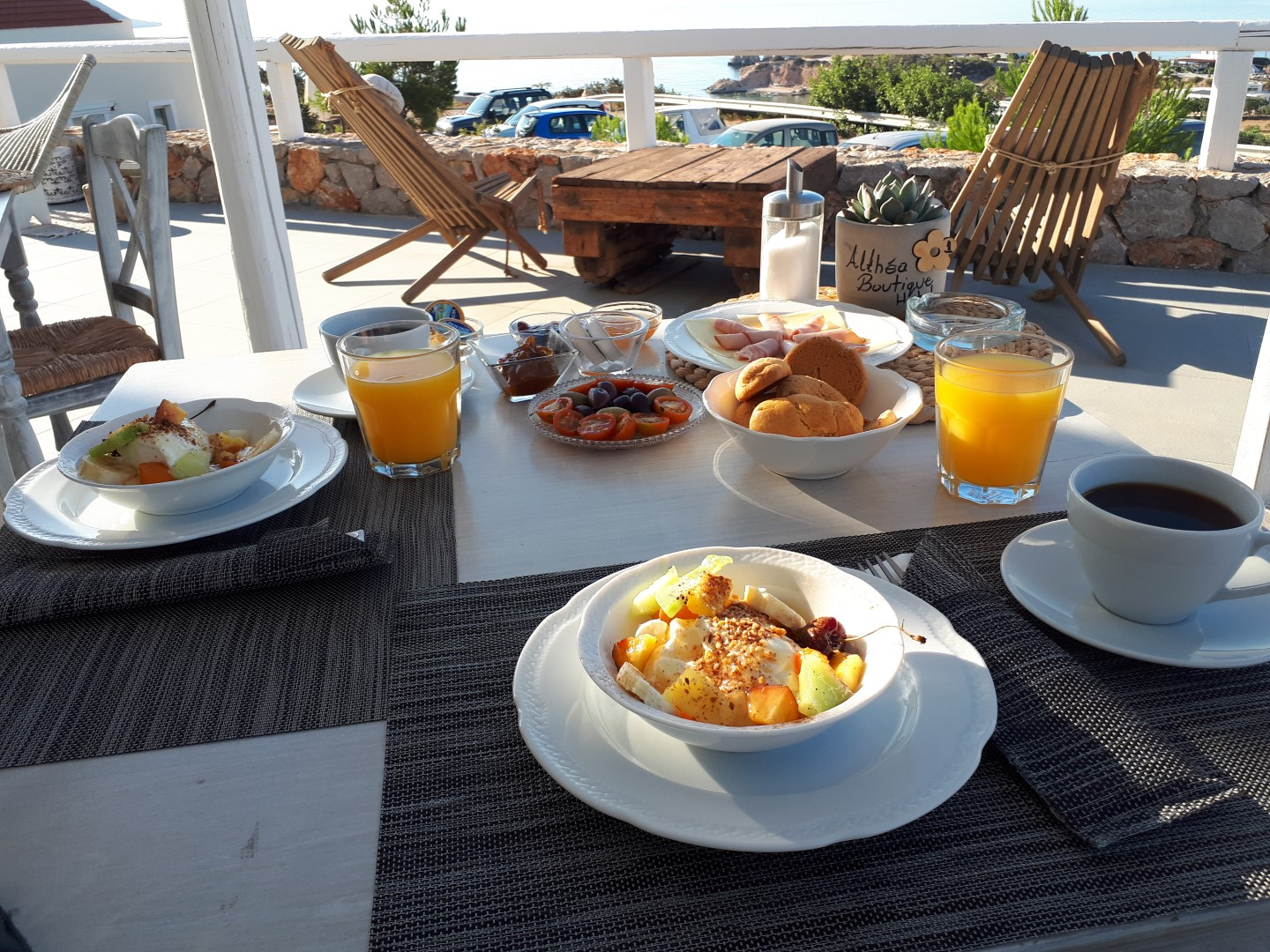 A traditional Greek breakfast experience unfolds in a boutique hotel in Karpathos!