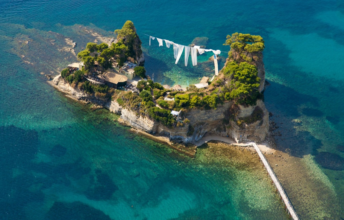 Aerial view on the Cameo island of Zakynthos, Greece   Travel By Interest